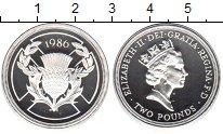 Изображение Монеты Великобритания 2 фунта 1986 Серебро Proof-