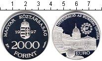 Изображение Монеты Венгрия 2.000 форинтов 1997 Серебро Proof Интеграция в Евросою