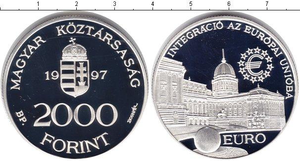 Картинка Монеты Венгрия 2.000 форинтов Серебро 1997