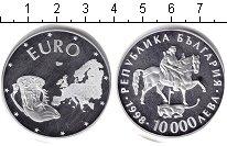 Изображение Монеты Болгария 10000 лев 1998 Серебро Proof-