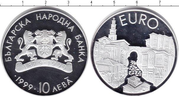 Картинка Монеты Болгария 10 лев Серебро 1999