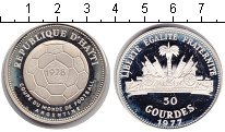 Изображение Монеты Гаити 50 гурдов 1977 Серебро Proof- Чемпионат мира по фу