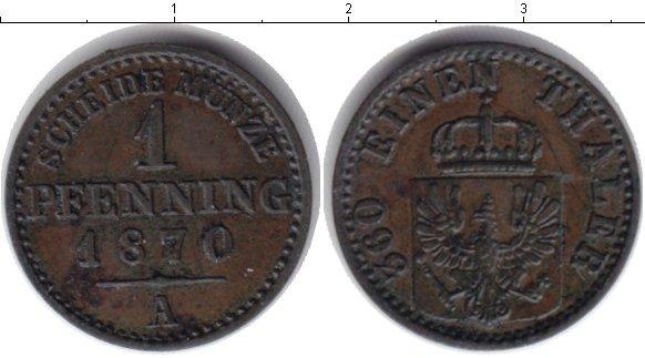 Картинка Монеты Пруссия 1 пфенниг Медь 1870