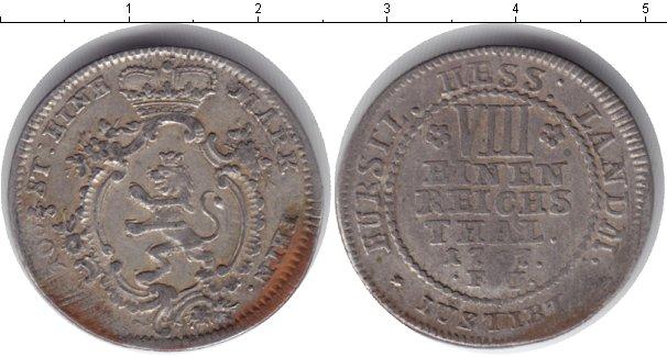Картинка Монеты Гессен-Кассель 1/8 талера Серебро 1767