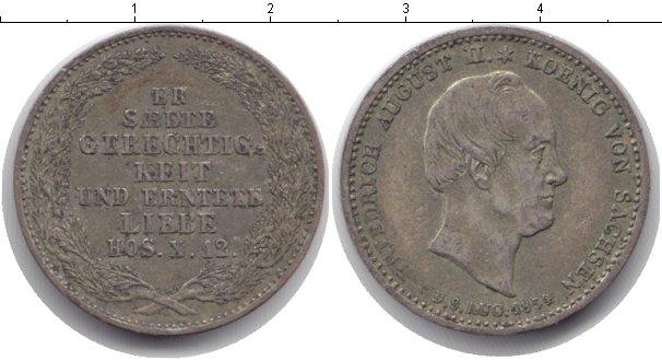 Картинка Монеты Саксония 1/6 талера Серебро 1854