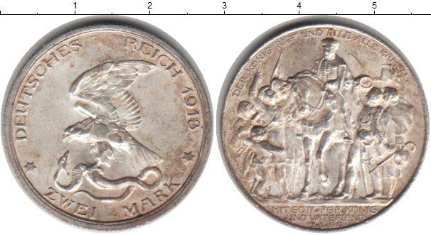 Картинка Монеты Пруссия 2 марки Серебро 1913