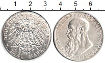 Изображение Монеты Саксен-Майнинген 3 марки 1915 Серебро UNC- Георг II