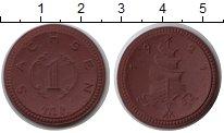 Изображение Монеты Саксония 1 марка 1921 Керамика UNC-