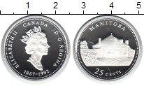 Изображение Монеты Канада 25 центов 1992 Серебро Proof Манитоба