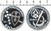 Изображение Монеты Португалия 250 эскудо 1989 Серебро Proof- 850-летие основания