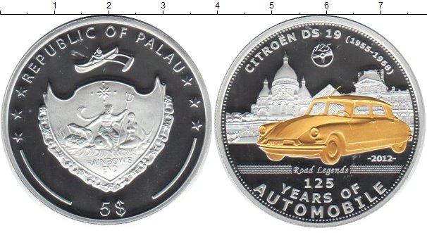 Картинка Монеты Палау 5 долларов Серебро 2013