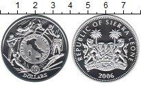 Изображение Монеты Сьерра-Леоне 10 долларов 2006 Серебро Proof 20-ые зимние олимпий