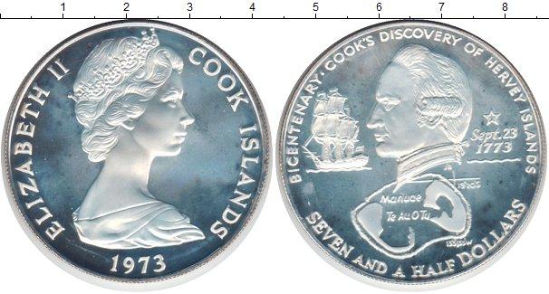 Картинка Монеты Острова Кука 2 1/2 доллара Серебро 1973