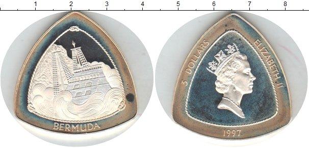 Картинка Монеты Бермудские острова 3 доллара Серебро 1997