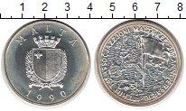Изображение Монеты Мальта 5 лир 1990 Серебро UNC- Мальта в Европейском