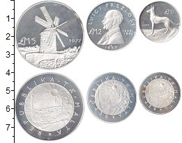 Изображение Наборы монет Мальта Мальта 1977 1977 Серебро Proof- Proof-. В наборе 3 м