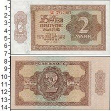 Изображение Банкноты ГДР 2 марки 1948  XF Боны Германии (Совет