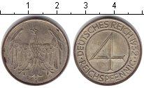 Изображение Монеты Веймарская республика 4 пфеннига 1932  XF А