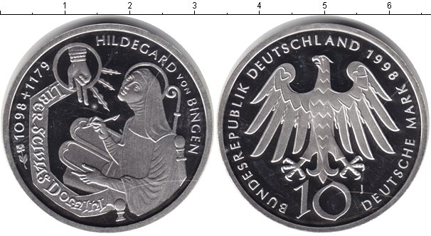 Картинка Монеты Германия 10 марок Серебро 1998