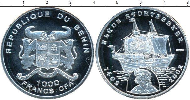 Картинка Монеты Бенин 1.000 франков Серебро 2002