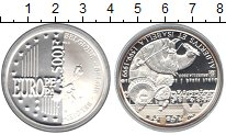 Изображение Монеты Бельгия 500 франков 2000 Серебро Proof- Изабель