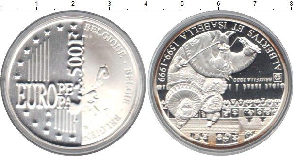 Картинка Монеты Бельгия 500 франков Серебро 2000
