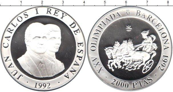 Картинка Монеты Испания 2.000 песет Серебро 1992