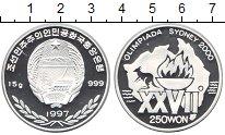 Изображение Монеты Северная Корея 250 вон 1997 Серебро Proof- XXVII Олимпиада Сидн