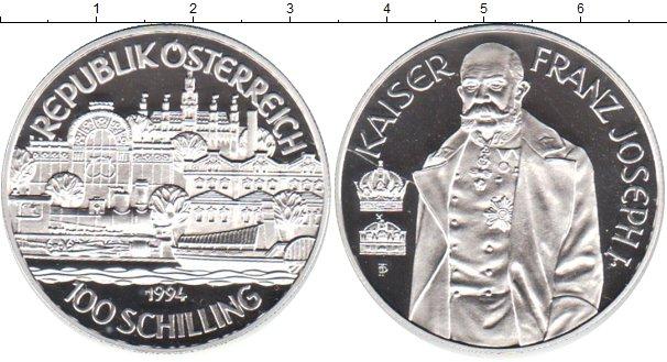 Картинка Монеты Австрия 100 шиллингов Серебро 1994