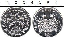 Изображение Монеты Сьерра-Леоне 10 долларов 2008 Серебро Proof- Олимпик