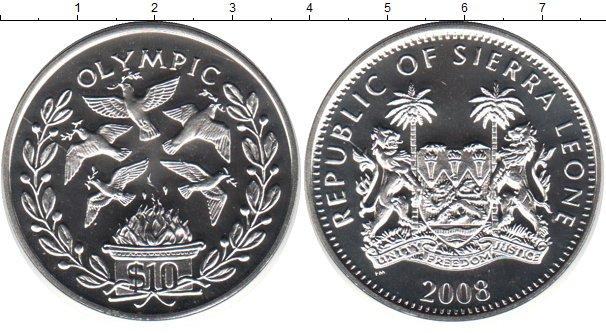 Картинка Монеты Сьерра-Леоне 10 долларов Серебро 2008