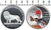 Изображение Монеты Конго 10 франков 2006 Серебро Proof-