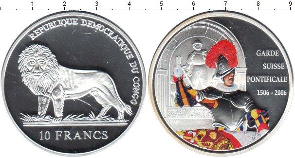 Картинка Монеты Конго 10 франков Серебро 2006