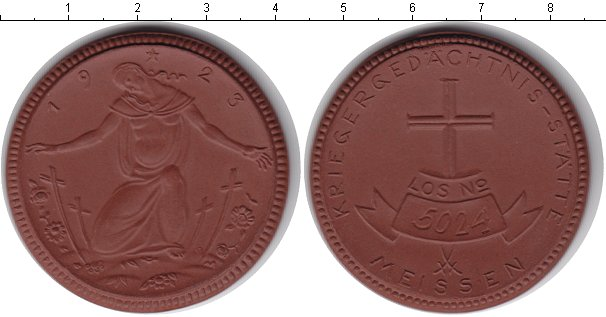 Картинка Монеты Мейсен жетон Фарфор 1923