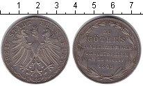 Изображение Монеты Франкфурт 2 гульдена 1849 Серебро XF 100-летие Гете
