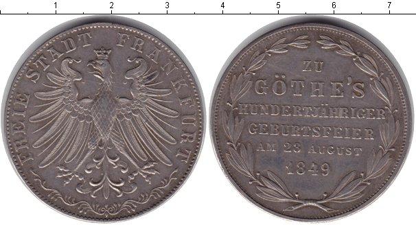 Картинка Монеты Франкфурт 2 гульдена Серебро 1849