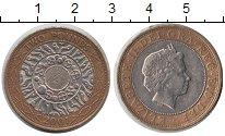 Изображение Монеты Великобритания 2 фунта 2001 Биметалл XF