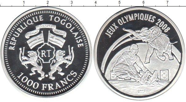 Картинка Монеты Того 1.000 франков Серебро 2007