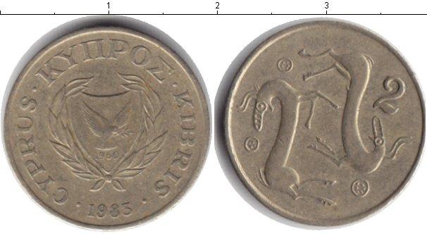 Картинка Дешевые монеты Кипр 2 цента  1983