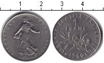 Изображение Барахолка Франция 1 франк 1960 Медно-никель VF сеятельница