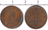 Изображение Барахолка Антильские острова 1 цент 1976  VF
