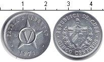 Изображение Барахолка Куба 5 сентаво 1971 Алюминий UNC