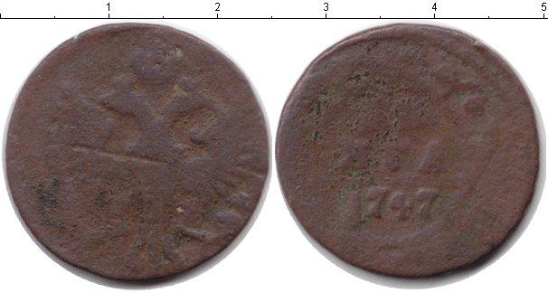 Картинка Дешевые монеты Россия 1 деньга Медь 1747