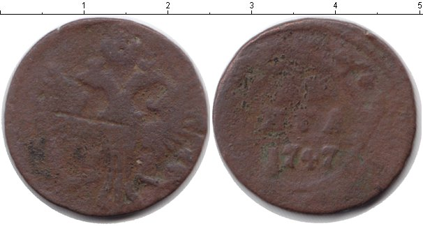 Картинка Барахолка Россия 1 деньга Медь 1747