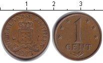 Изображение Барахолка Антильские острова 1 цент 1977 Медь XF