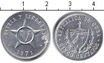 Изображение Дешевые монеты Куба 5 сентаво 1971 Алюминий XF