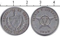 Изображение Дешевые монеты Куба 5 сентаво 1968 Алюминий VF