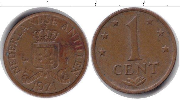 Картинка Дешевые монеты Антильские острова 1 цент  1971