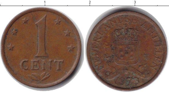 Картинка Барахолка Антильские острова 1 цент  1973