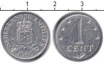 Изображение Барахолка Антильские острова 1 цент 1980 Алюминий VF